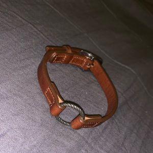 James Avery Leather Charm Bracelet
